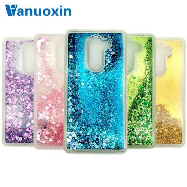 Vanuoxin Dynamic Love Heart Glitter Liquid Case sFor Funda Huawei Honor 6X...