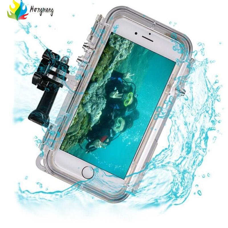 Цена за Экстремальные виды спорта Водонепроницаемый чехол с 170 градусов широкоугольный объектив для iPhone 6 6S 5S SE 6 Plus для GoPro аксессуары GoPro адаптер