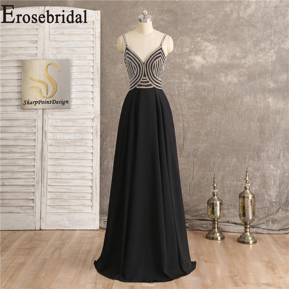 Black Chiffon Long Formal Dresses Evening Gown Occasion Dresses For Women Long Elegant Evening Dress Party