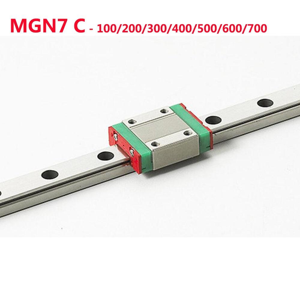 все цены на 1PC MGN7 Linear Rail Guide Width 7mm Length 100 200 300 400 500 600 700 mm with 1PC Linear Block MGN7C онлайн