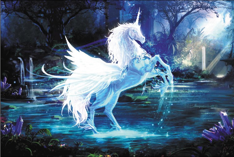 1000 pieces upscale adult wooden puzzles lighting pegasus
