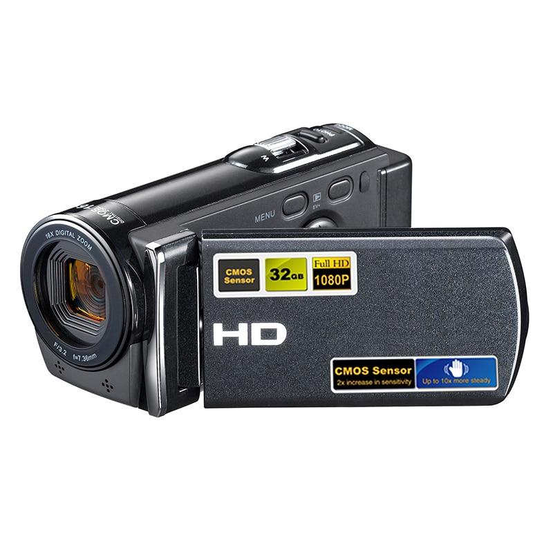 HD 16X Digital Video Camcorder DV DSLR Camera LED Fill Light 3.0 inch Screen Smile Capture for Windows 98SE 2000 XP Vista 7 8