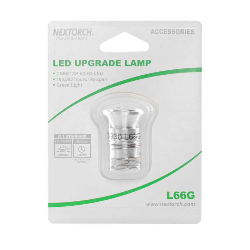 NEXTORCH 200 Lumen Upgrade Single 3W White Light Output LED Replacement Bulb L66 G nextorch rt3