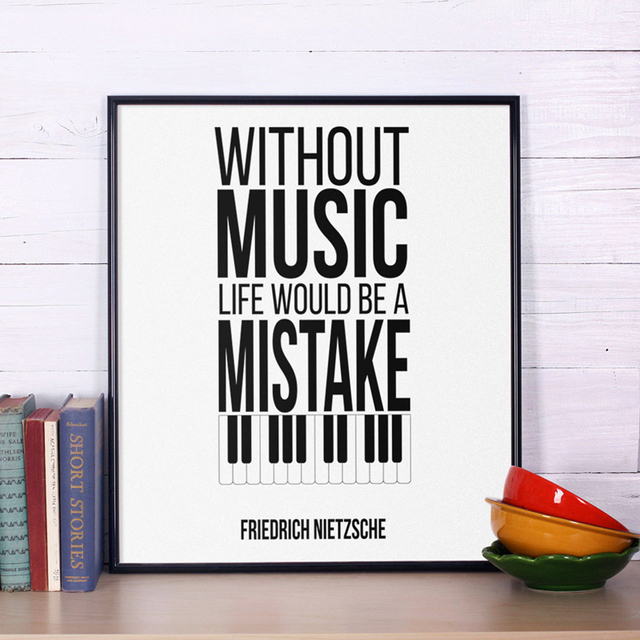 SURELIFE New Music Quotes Canvas Painting Decoration Modern Art Paintings Wall Pictures For Living Room Home