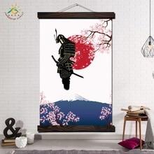 купить!  Самурай Япония Характер Стены Искусства Отпечатки На Холсте Картина Кадр Прокрутки Живопись Плакат