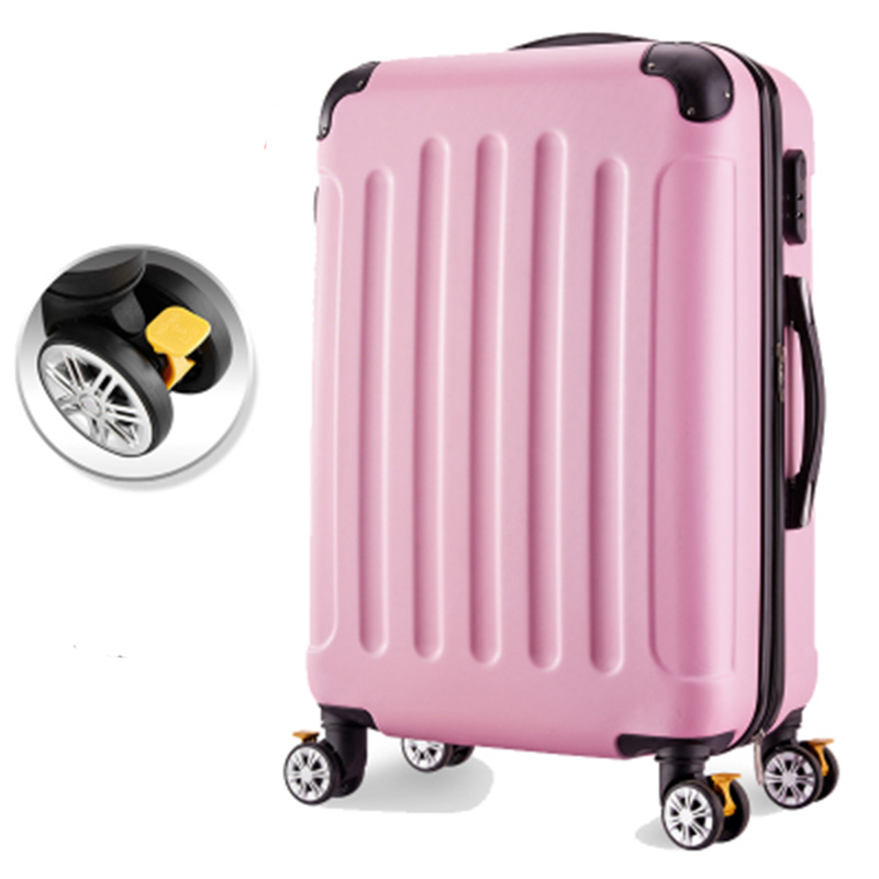 Rolling Luggage Spinner Wheels 24 inch Suitcase Trolley Men ABS+PC Travel bag Trunk Student Password box Women Carry On Luggage 20 24 28 inch red carry on vintage rolling luggage bag suitcase travel suitcase custom rod box for women trolley bags wheels
