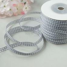 TALA 100meters roll 1 4 Tartan Plaid Ribbon Polyester Scottish Ribbons Grey Bows Appliques Sewing Crafts