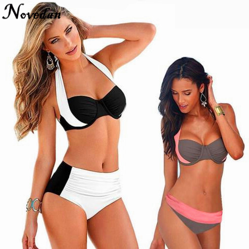 2017 new sexy super push up halter high waist bikini plus. Black Bedroom Furniture Sets. Home Design Ideas