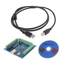 12-24V CNC MACH3 USB 4 Axis 100KHz Stepper Motion Controller Card Breakout Board Hot