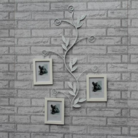 Wrought Iron Frame Solid Wood 7 Inch Photo Frame Creative Photo Wall Decoration