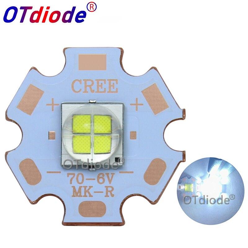 1 Uds 7070 20W 6V12V Led reemplazar Cree XHP70.2 xhp50,2 LED emisor blanco frío 6500K coche diodo de luz Chip luz con cobre PCB