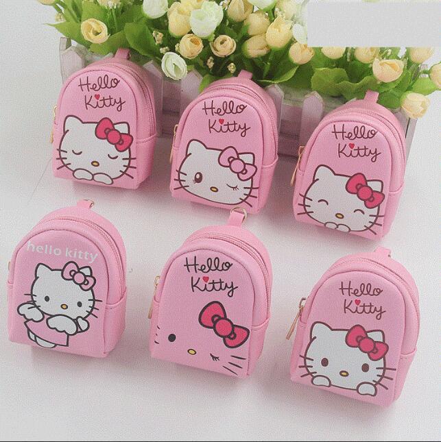 24pcs Kawaii Cute Pink PU Mini backpack Coin bag Girls Birthday party Favor Money bags wholesale