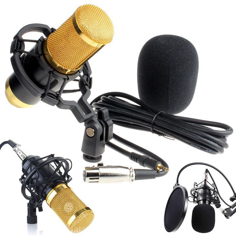 Professional BM-800 Condenser Microphone Studio Sound Recording Dynamic With MIC Shock Mount for Computer KTV 3 Color