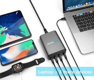 Image 5 - Dual Type C PD Travel Charger Adapter with 2 USB C PD & 2 USB 5V 2.4A Compatible with Most USB C Laptop & Phone Like DELL XPS