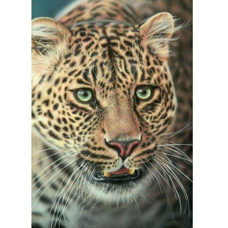 H1091 full diamond painting,diamond cross stitch,diamond mosaic paintings Leopard