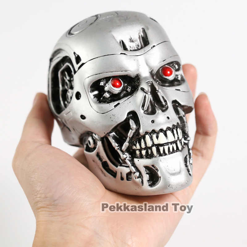 Neca pvc 1/2 terminator t800 crânio cabeça esculpir coleção para o presente do feriado