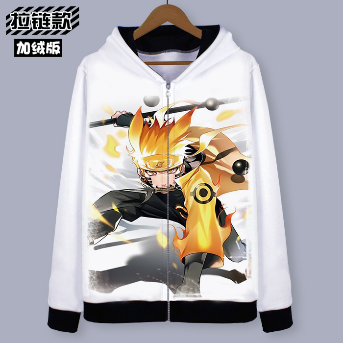 XXL XXXL 2018  new fashion NARUTO Naruto Hoodie Anime Uchiha Sasuke Cosplay Coat Uzumaki Naruto Jacket Men  Zipper Sweatshirt