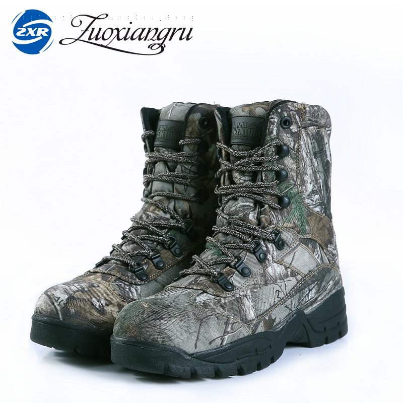Winter Tactical Men Boots Camouflage Warm Cotton Army Shoes Trainer Footwear Mens Military Boots Men's hiking camping shoes lurker shark skin soft shell v4 military tactical jacket men waterproof windproof warm coat camouflage hooded camo army clothing