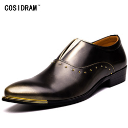 3404937a7468 COSIDRAM Slip On Formal Shoes PU Leather Oxfords Pointed Toe Men Dress Shoes  Business Wedding Shoes For Male 47 48 BRM-003