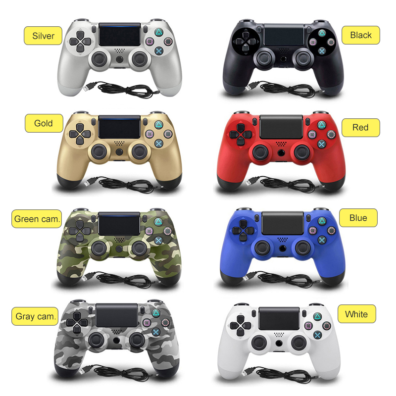 Wired Game controller for PS4 Controller for Sony Playstation 4 for DualShock Vibration Joystick Gamepads for Play Station 4 rnx ps4 accessories joystick ps4 wireless chatpad play station 4 message keyboard for playstation 4 game gaming controller