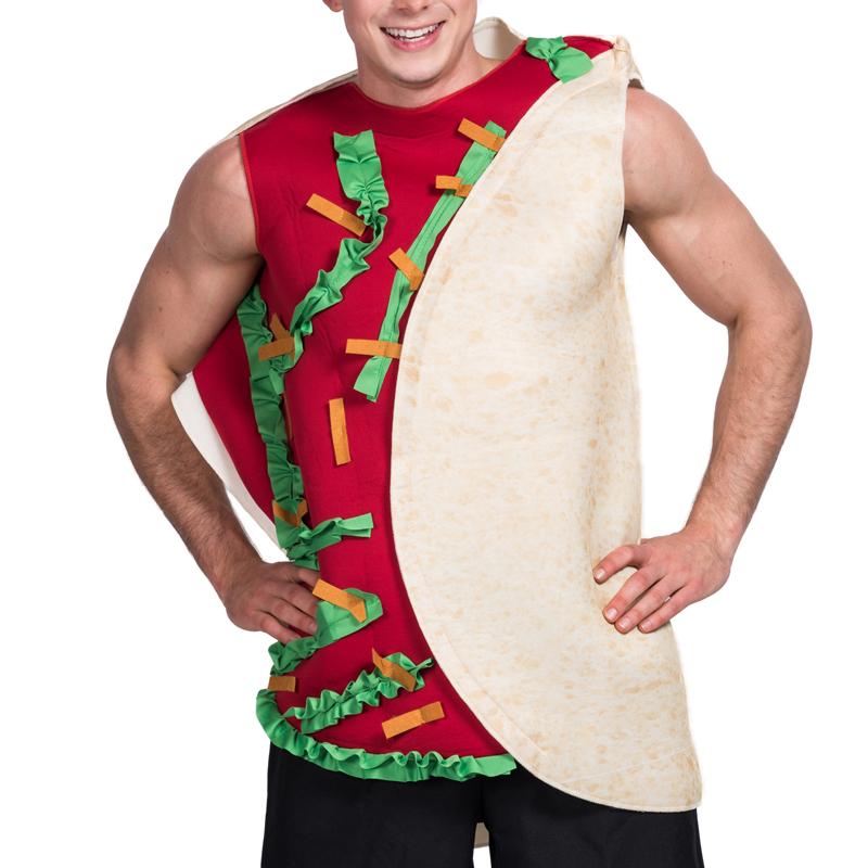 Homens Hambúrguer Sanduíche Comida Mexicana Taco Traje Festa de ... 22a71108404