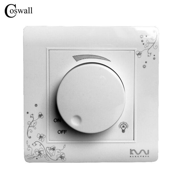 COSWALL יוקרה קיר עמעם, שנהב לבן, אמנות קצר אופנה אור מתג, AC 110 ~ 250V