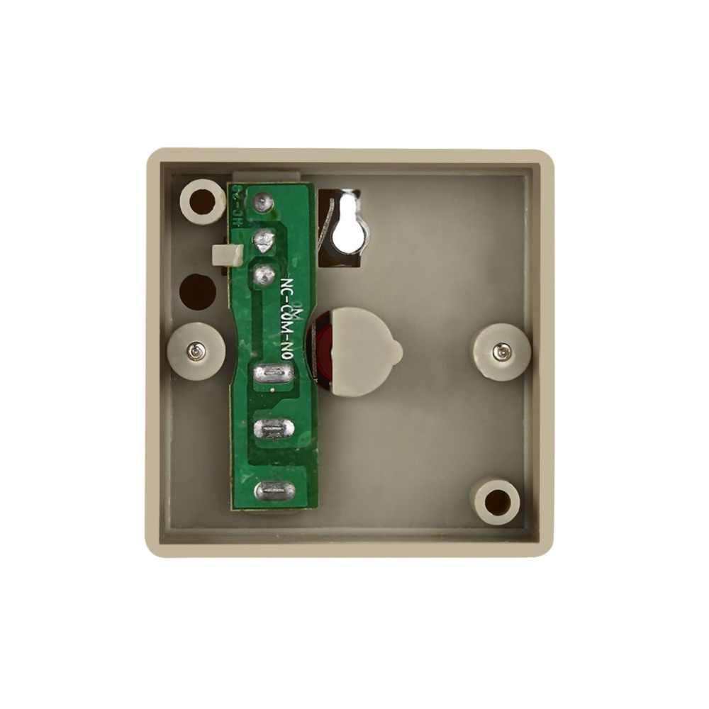 1 Set DC 24 V Tombol Panik Darurat Kabel Aman Keamanan Plastik Keluarga Kantor Mini Darurat Alarm Panik Push Button putih