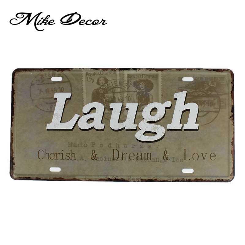 [Mike86] стихотворение Цитата окрашивание металла декор Ретро подарок ремесленный Металл табличка для кафе декорация зала FG-128 30*15 см