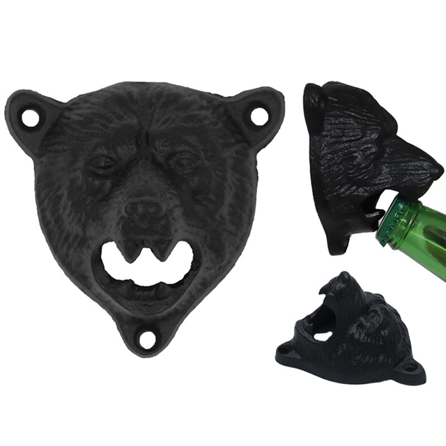 Vintage Cast Iron Bear Shaped Beer Opener