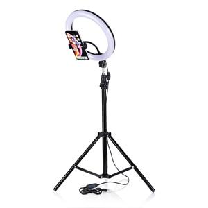 Image 4 - طقم استوديو تصوير فيديو للكاميرا 10 بوصة 120 قطعة مصباح حلقة LED صور التصوير عكس الضوء حلقة USB مصباح الفقرة 200 سنتيمتر ترايبود
