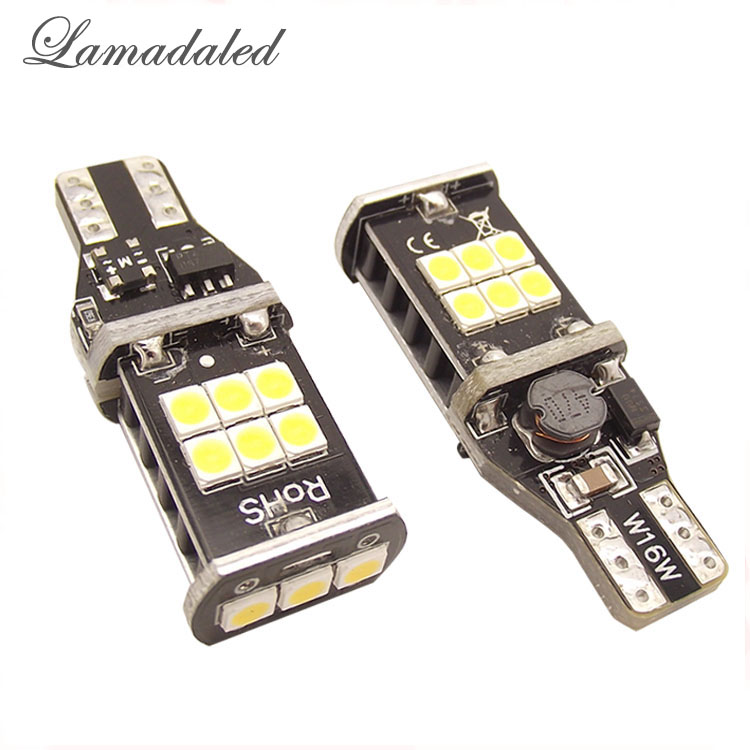 Lamdaled New Canbus 7.5w T15 LED Reverse Light  W16W 15SMD NO ERROR Back UP light  rear Lamp WHITE carprie super drop ship new 2 x canbus error free white t10 5 smd 5050 w5w 194 16 interior led bulbs mar713