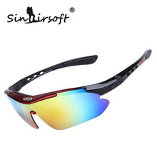 Sinairsoft Professional Cycling Eyewear UV400 Polarized Cycling Glasses Bike Bicycle Glasses Sunglasses Goggles TR90 5 Lens