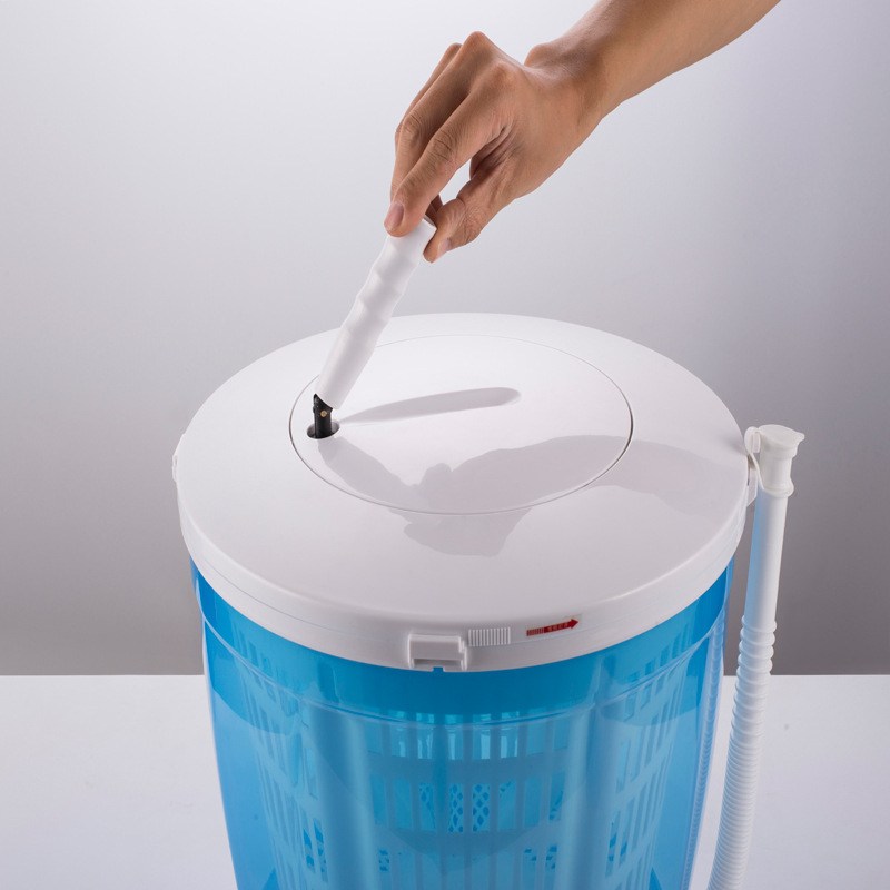 Mini Hand Shake Washing Machine Semi-automatic 2KG Household Small Baby Wave Wheel Compact Washing Machine Home Travel Dual Use
