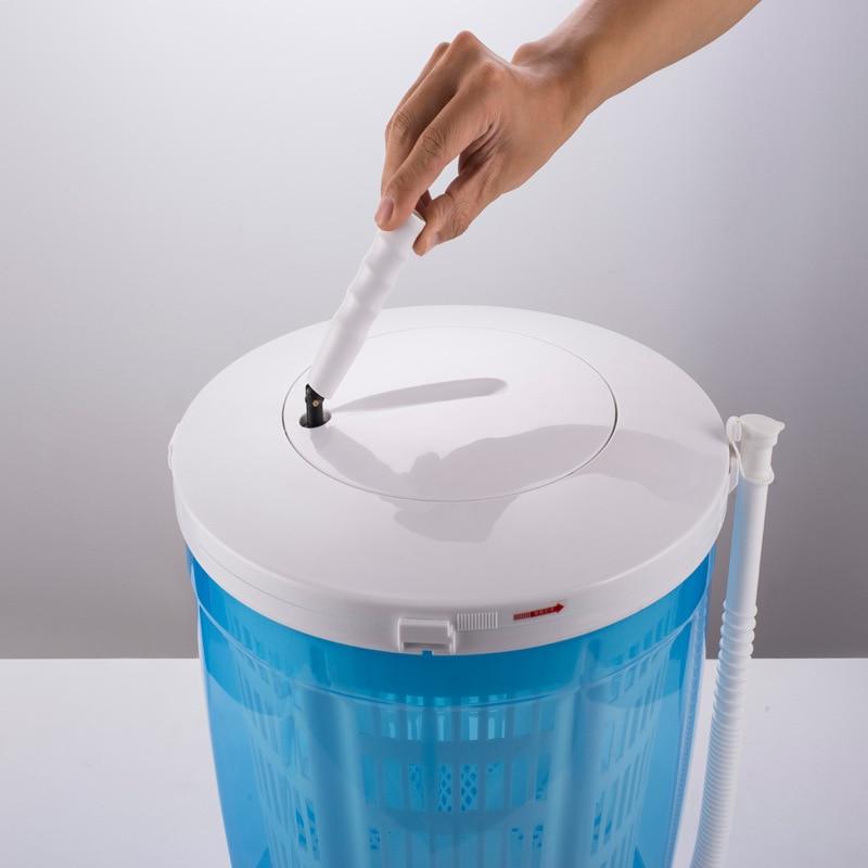 Mini Hand Shake Washing Machine Semi-automatic 2KG Household Small Baby Wave Wheel Compact Washing Machine Home Travel Dual Use