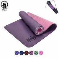 3 in 1 TPE Yoga Mat 6mm Environmental Tasteless Colchonete Fitness Gymnastics Mat Gym Exercise Mat with Yoga Mat Bag 183*61*0.6