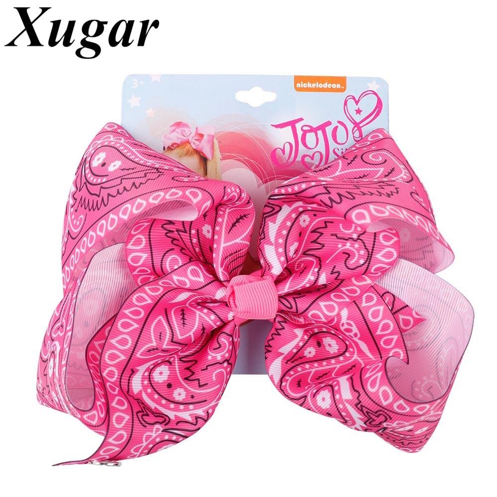 "7"" large ribbon amoeba hair bows"