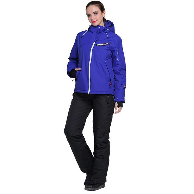 89b55ec63f Winter Windstopper Waterproof Hiking Camping Ski Suit Snowboarding Padded Jacket  Snow Pants Women Outdoor Snowboard Skiing Set