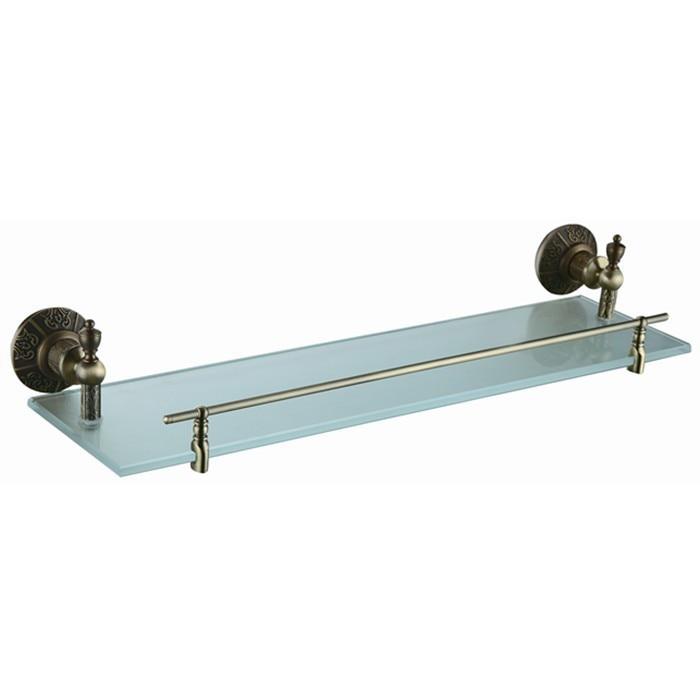 accessori per il bagno bronzo antico placcato mensola di vetro con il cristallo built in