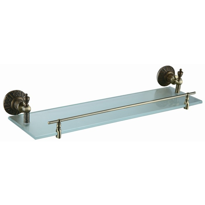 bathroom accessories antique bronze plated glass shelf with builtin crystal single tier wall shelf