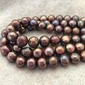 7-8mm Real Natural Chocolate Freshwater Pearl Rondelle Loose Beads 15""
