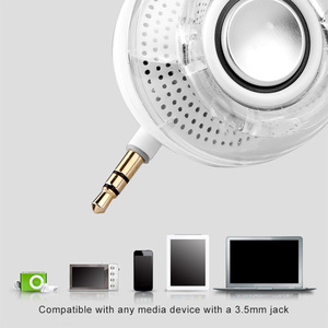 Image 4 - Hot F10 Portable HIFI 3D Surround 3.5mm Aux Audio Jack Mini Wireless Powerful Crystal Speaker for Smart Phone Tablet