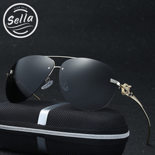 Sella New Fashion Polarized Women Men Sunglasses Classic Pilot Fox Legs Rimless Summer Stylish Sun Glasses UV400