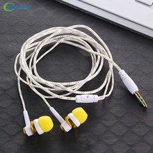 HANGRUI Braided Rope Wire Cloth Rope Earphone Noise Isolating Earplug Wiring Subwoofer Earphone For iphone for xiaomi phone MP3