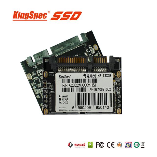 Acjc2m128hs módulo kingspec 1.8 pulgadas medio delgado ssd 128 gb solid disco duro de estado para el ordenador portátil con SATA II/III 7 + 15 pin interfaz
