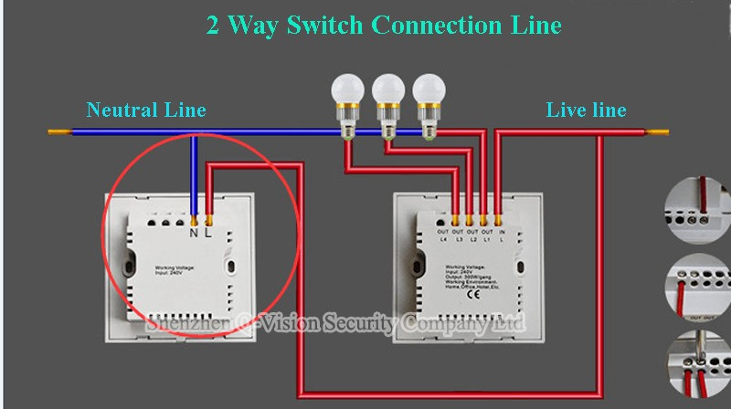 2 Way Switch Connection PIC