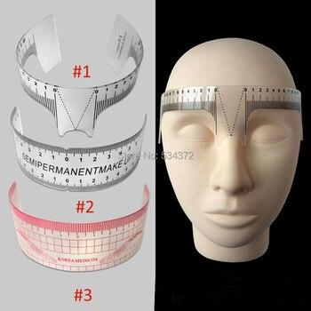 2pcs Eyebrow Grooming Stencil Shaper Ruler Measure Tool Makeup Reusable Permanent Makeup Measure Tools