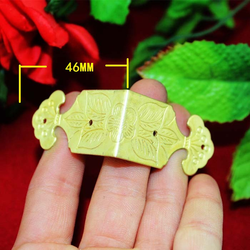 Home Improvement Hardware Ancient Corner Brackets,Flower Coners,Wooden Box,Gift Box Protectors,Side Protector,Yellow/Gold,2Pcs