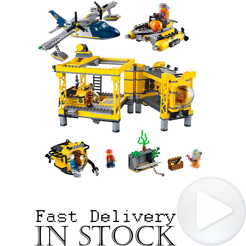1016PCS LEPIN City Explorers 02088 Deep Sea Operation Base Helicopter Building Blocks Bricks DIY Toys For Children Gifts 60096 774pcs city deep sea explorers 02012 model exploration vessel building blocks bricks children toys ship kit compatible with lego