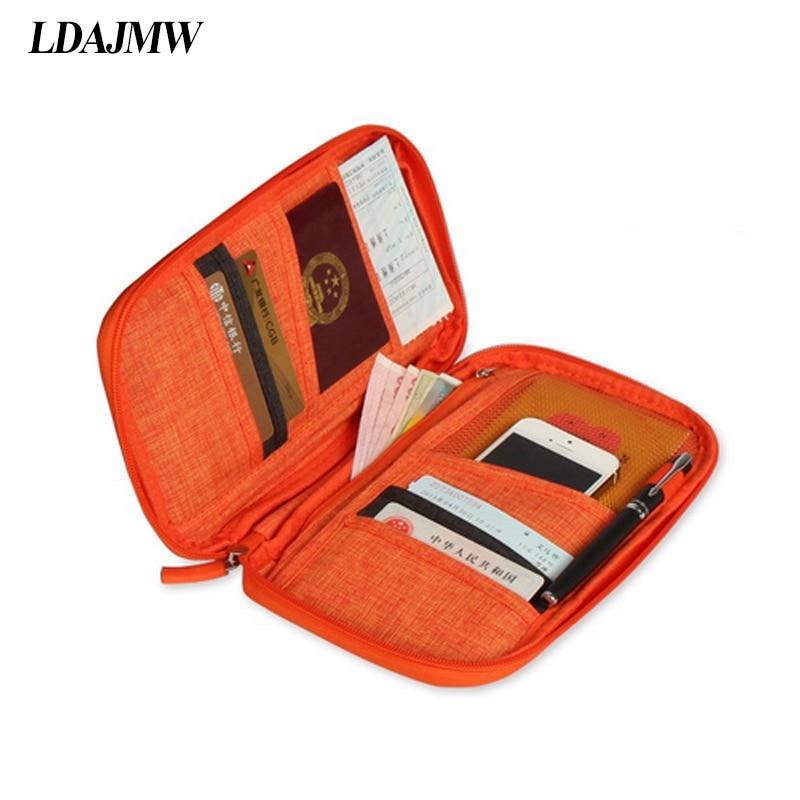 LDAJMW Utazási útlevél Mindenféle Kártya Tároló táska - Szervezés és tárolás