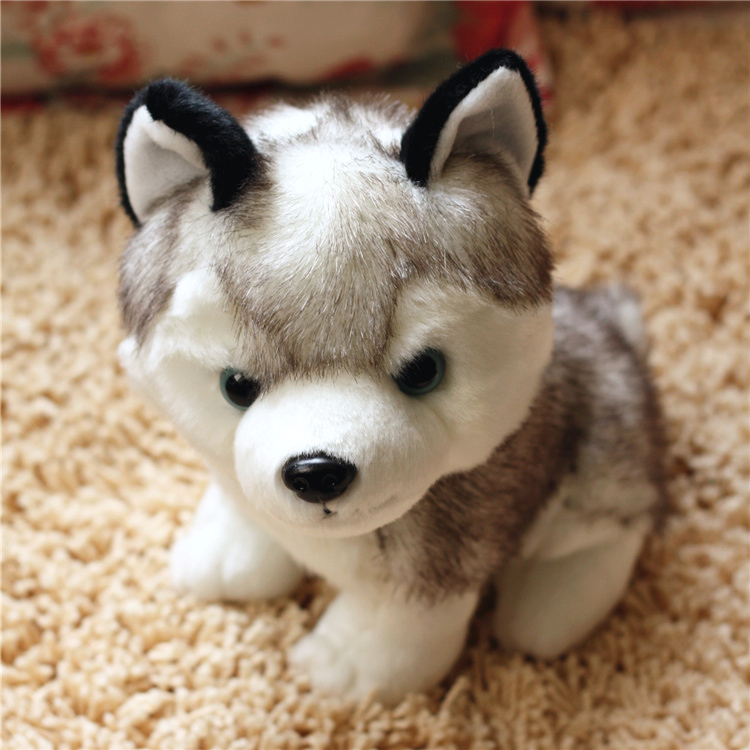 Kawaii 18 22 28 CM Simulation Husky Dog Plush Toy Gift For Kids Baby Toy Birthday Present Stuffed Plush Toy Children Boy Girl in Stuffed Plush Animals from Toys Hobbies